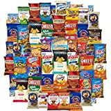 Ultimate Snacks Chips Cookies Candy Variety Assortment Pack Bulk Sampler Care Package (65 Count) offers