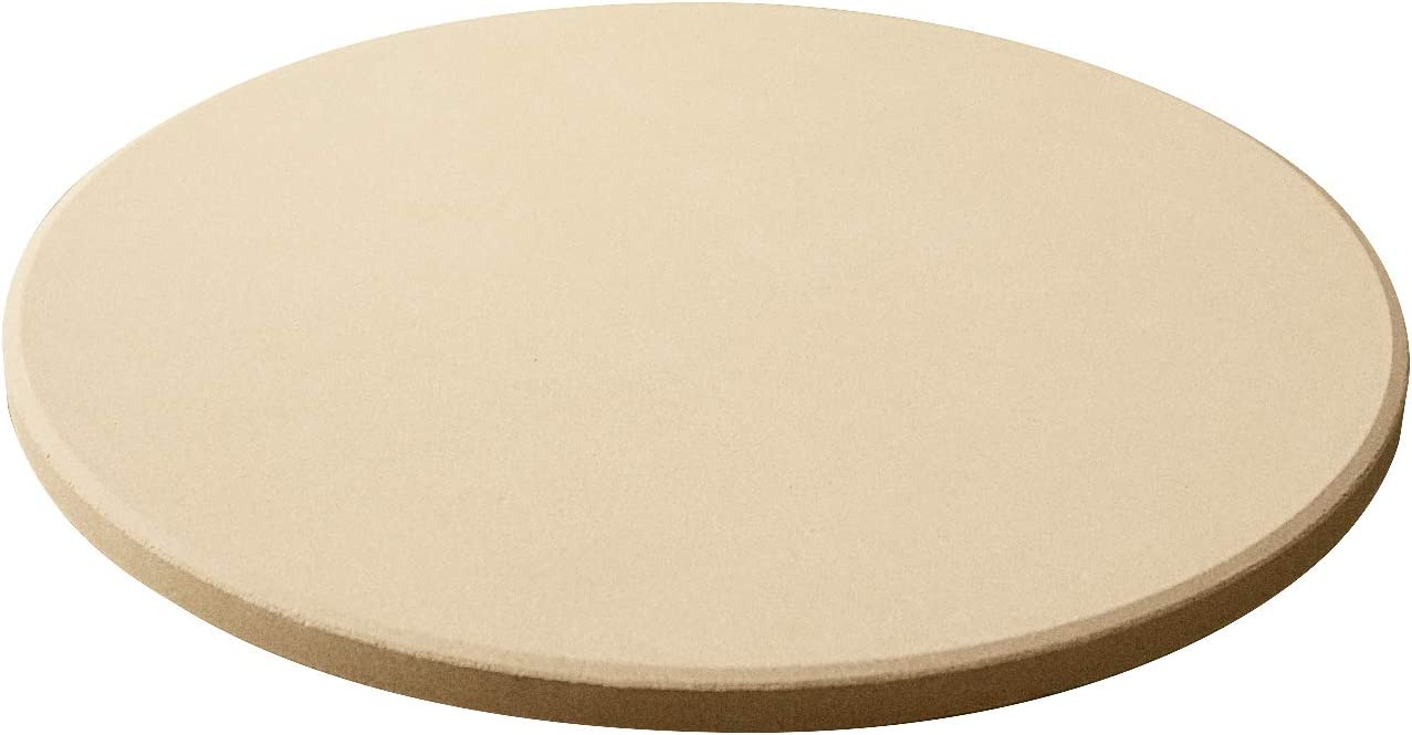 Durable BBQ Pizza Pan Heavy Duty Ceramic Baking Stone for Oven and Grill Perfect Baking Accessories for Pizza Bread Pizza Grilling Stone Pies and More Arcedo 12 Inch Round Pizza Stone Beige