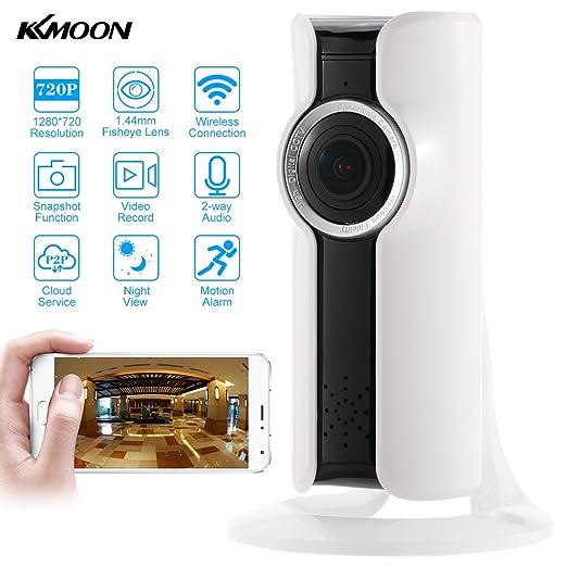 4 opinioni per KKmoon 720P Wireless WiFi Panoramico HD IP Telecamera 180 Grado 1,44MM Fisheye