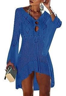 Yuson Girl Mujeres Gasa Pareos Traje De Baño Bikini Playa Yuson Girl Manto Protector Solar Larga Vestido Cubierta hasta Ropa De Playa (Azul Claro): Amazon.es: Ropa y accesorios