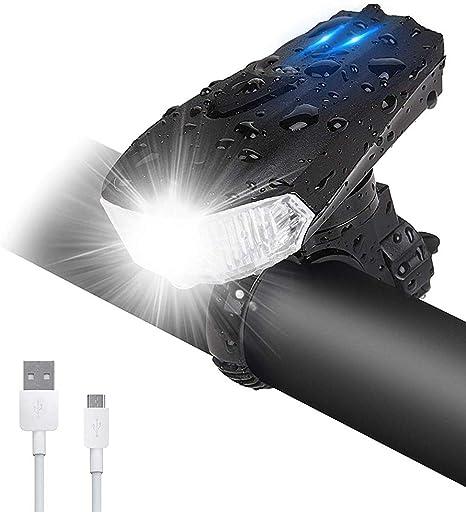 LED Luz Bicicleta, Luces Bicicleta Delantera y Trasera USB ...