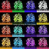 color schemes for bedrooms LED Fairy Lights 33ft 100 LEDs Battery Operated String Lights Waterproof Multi Color Changing, Firefly Lights with Remote Control for Indoor,Outdoor,Bedroom,Patio,Wedding,Party Christmas Decorations
