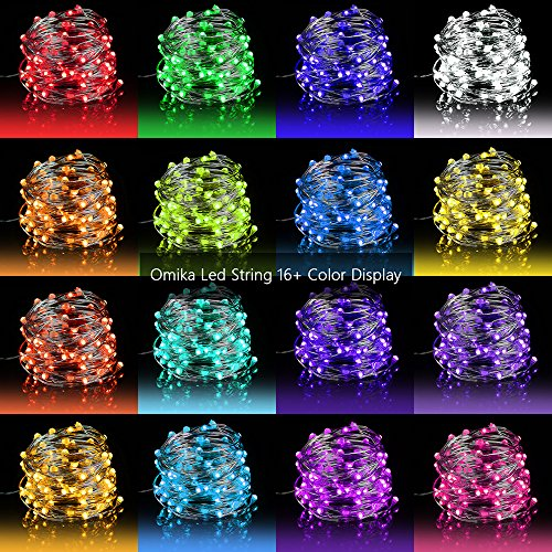 LED Fairy Lights 33ft 100 LEDs Battery Operated String Lights Waterproof Multi Color Changing, Firefly Lights with Remote Control for Indoor,Outdoor,Bedroom,Patio,Wedding,Party Christmas Decorations]()