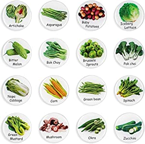 MORCART Food Magnets for Refrigerator - Kitchen Food List - Vegetables - Decorate Fridge Locker Whiteboard - Gifts for Children, Cooking Lovers, Mothers 16Pcs