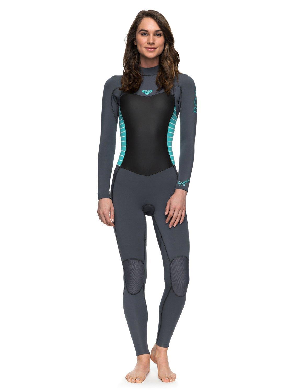 Roxy Womens Roxy 4/3Mm Syncro Series - Back Zip Gbs Wetsuit - Women - 14 - Blue Ash / Pistaccio 14