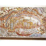 Photographic Print of Greek civilization, fresco depicting ship procession, from Akrotiri, Thera by Media Storehouse