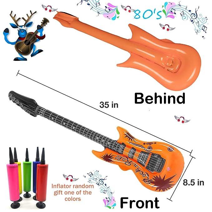 Amazon.com: Juego de guitarra inflable de 8 colores de 35 ...