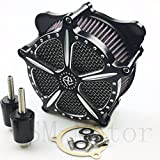 CNC DEEP CUT HARLEY STREET GLIDE Air Cleaner Contrast Cut For Harley Touring FLHR FLHT FLHX 2014-2016 New