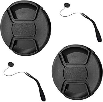 Universal Lens Cap Cover Center Pinch Snap Anti-losing for 77MM Camera Len