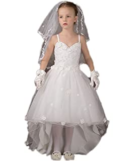 e3164ad136abe CoCoGirls Elegant Straps Appliques Flower Girls Dresses Party Communion Gown