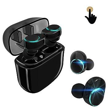 Auriculares Inalámbricos Manos Libres Bluetooth Táctil Mini Audífonos Portátil In Ear Cancelación de Ruido Impermeable Resistente al Agua para Conducir ...