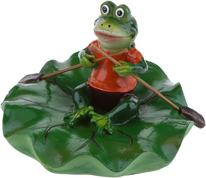 Schwimmfrosch braun  Frosch Teich Dekoration Schwimmteich Brunnen 26623 Wasser