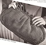 Vintage Crochet PATTERN to make - Clutch Bag Purse Handbag 1940s Retro Style. NOT a finished item. This is a pattern and/or instructions to make the item only.