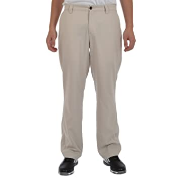 adidas Golf Mens Climalite Flat Front Pants Trousers - Ecru - W32L32