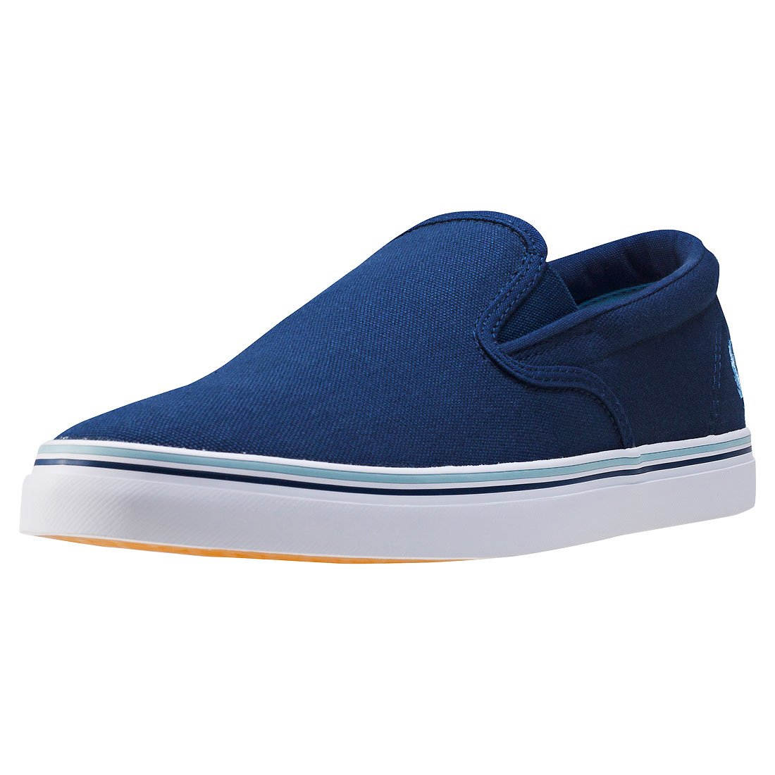 Frot Perry - Herren Blaue Marine Schuhe Underspin Slip on Canvas Carbon Blau