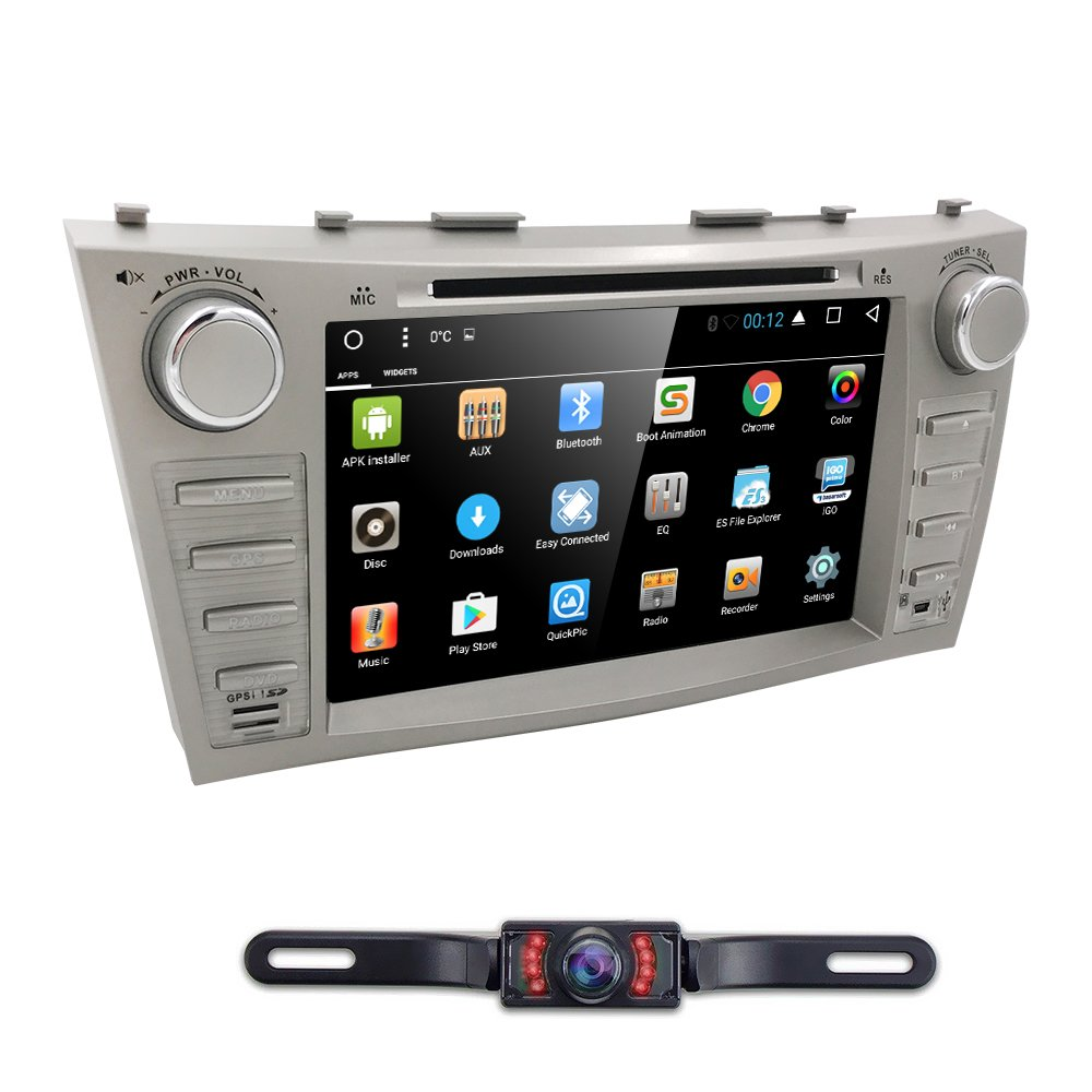 Hizpo Car Dvd Player For Toyota Camry 2007 2008 2009 Etc S Electrical Wiring Diagram 2010 2011 Android 71 Quad Core 8 Inch Screen Gps Navi Bt Radio Rds Dtv Aux Usb