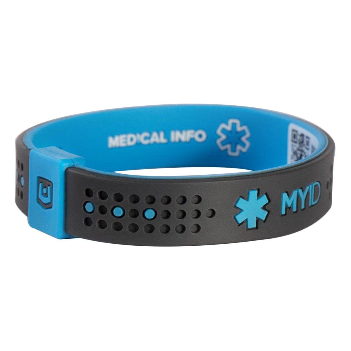 ENDEVR MYiDスポーツ医療IDブレスレット、オンラインプロファイル、医療情報システム B00ISCTQ8E