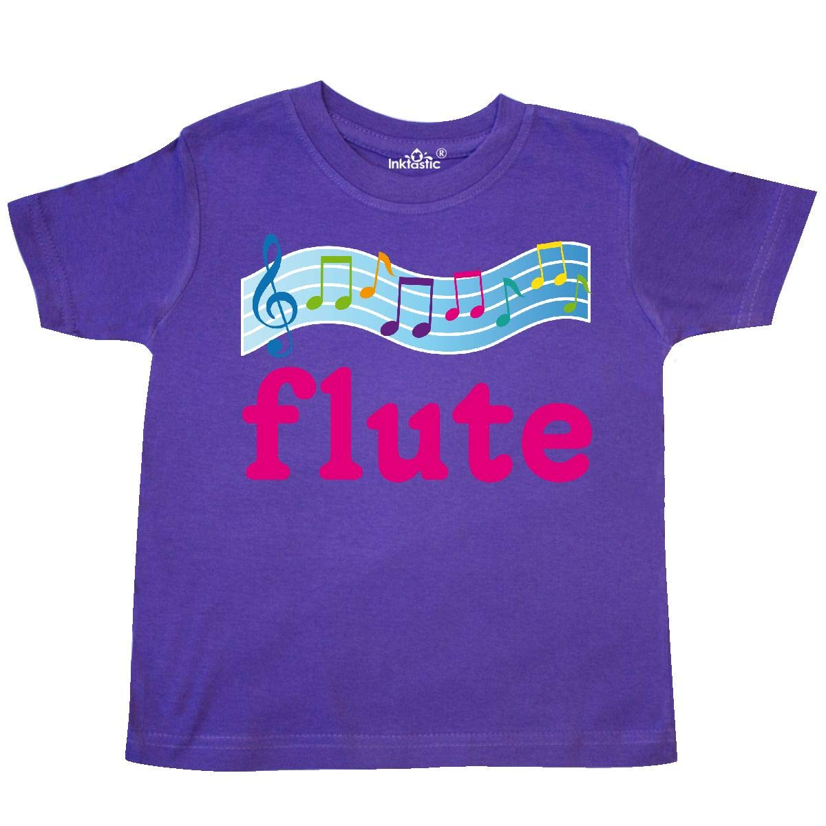 inktastic Cute Flute Music Gift Toddler T-Shirt