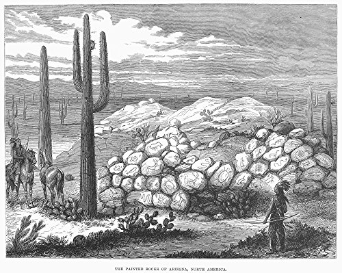 Arizona Painted Rocks Nnative American Petroglyphs At A Painted Rocks Site In Arizona Wood Engraving From An English Newspaper Of 1876 Poster Print by (24 x 36)