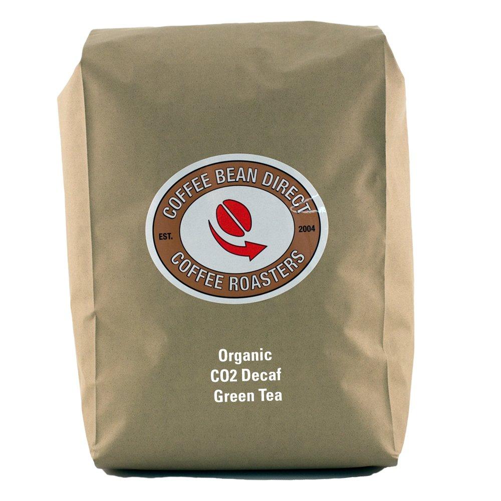 Coffee Bean Direct Organic Co2 Decaf Green Tea, 1-Pound by Coffee Bean Direct