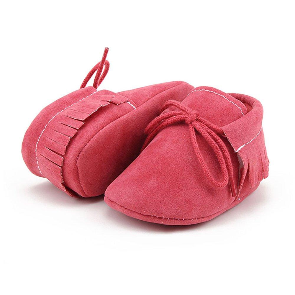 OOSAKU B/éb/é gar/çons b/éb/é Nouveau-n/é /à Semelle Souple Glands /à Lacets Mocassins Prewalker Chaussures de Berceau