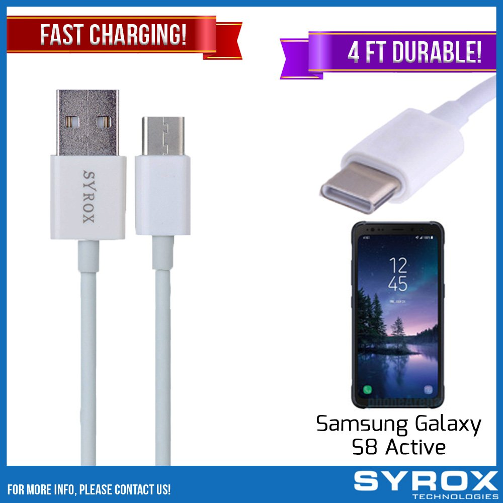 Syrox 20-Pack USB Type-C Cable, Reversible 4 ft Ultra Durable Fast Charging for Samsung Galaxy S8 Active, Samsung Galaxy Note 8, S8 Plus, LG V30, V20, G6, G5, Google Pixel, 6P, Nintendo Switch and All