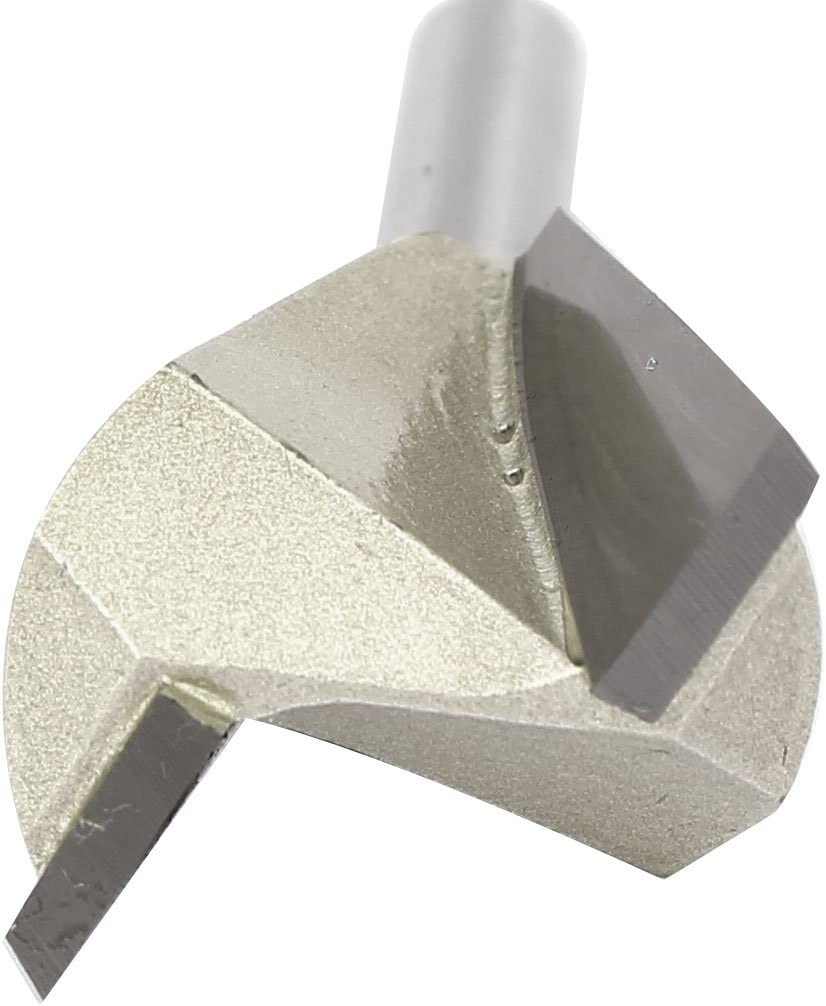 uxcell1//4-inch Round Shank 1-inch Cutting Dia Woodwork Dovetail Router Bit