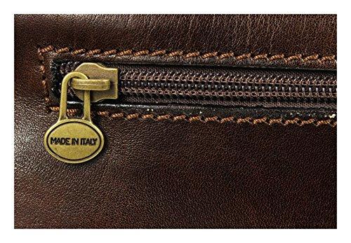 Schöne praktische Leder Braune Umhängetasche aus Leder für Herren Lorenzo Cafe über die Schulter 5VimxoETM