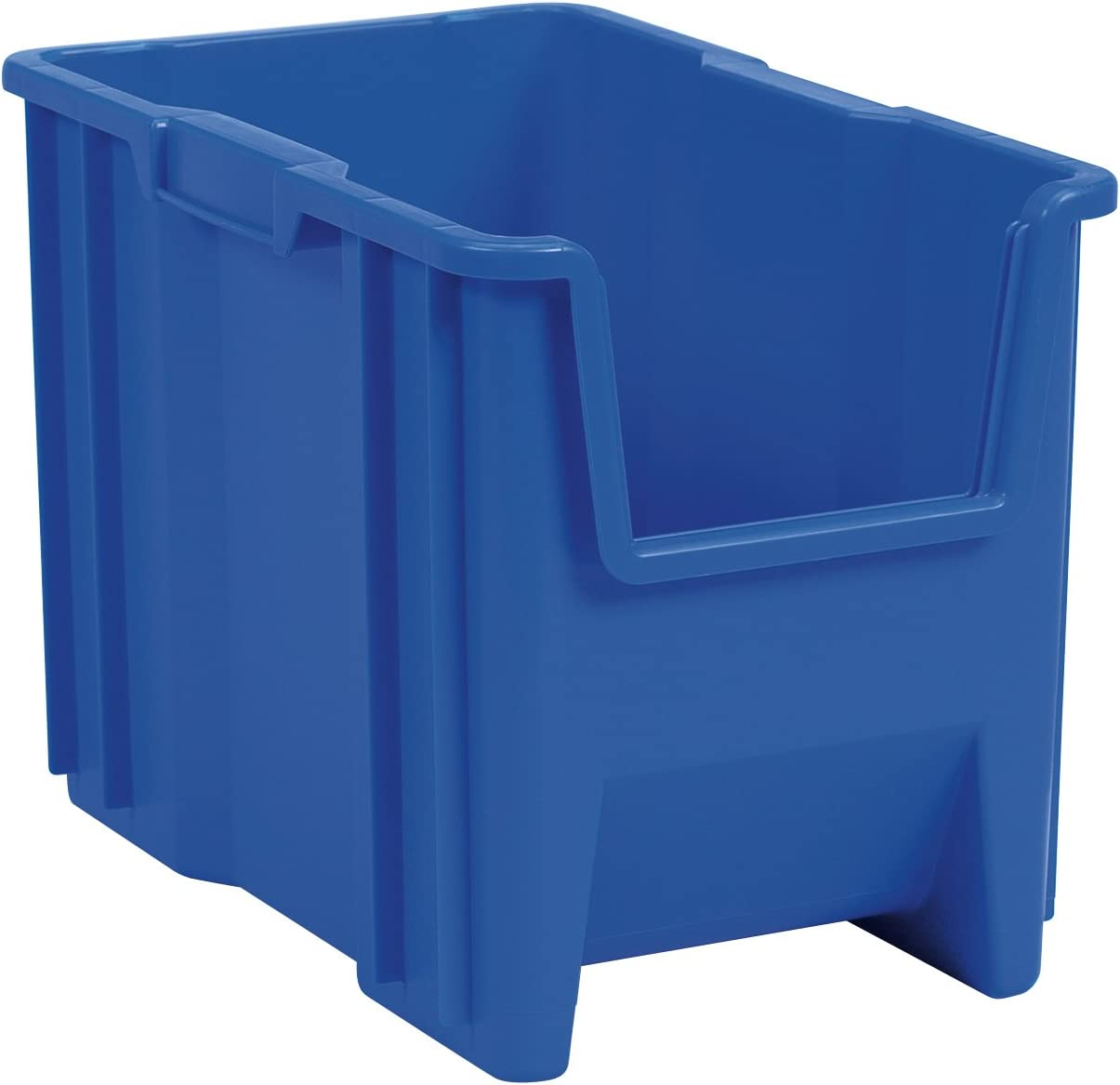 Akro-Mils 13014 Stack-N-Store Heavy Duty Stackable Open Front Plastic Storage Container Bin, (17-1/2-Inch x 11-Inch x 12-1/2-Inch), Blue, (4-Pack)