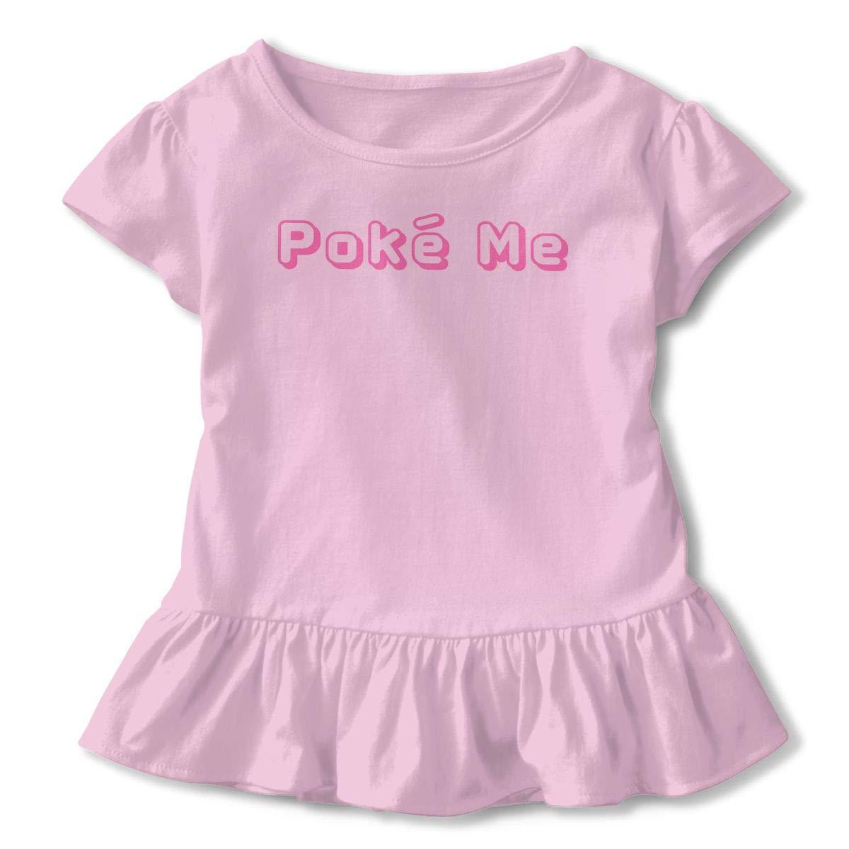 JVNSS Pok/é Me Shirt Comfort Infant Girl Flounced T Shirts Graphic T-Shirt for 2-6T Baby Girls