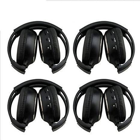Car Wireless Headphones - SODIAL(R)HQ 4PCS IR Wireless Headphones Headsets for Car