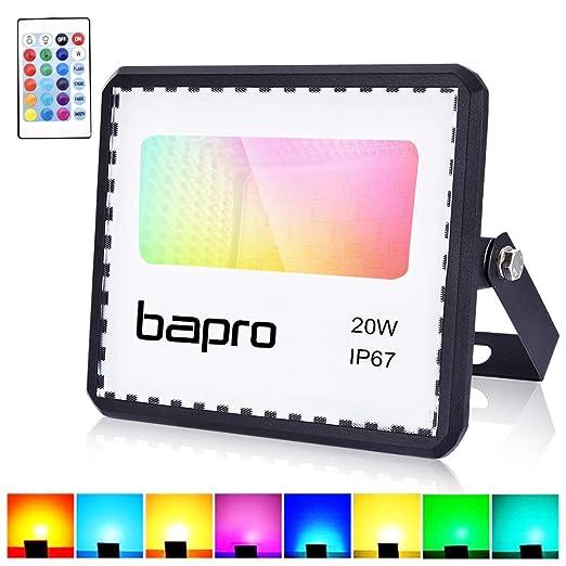 Foco LED 20W RGB con control remoto, proyector IP67 ...