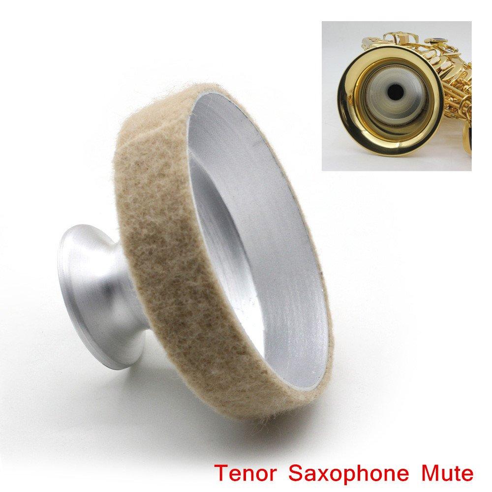 Petbly(TM) Aluminum Mute Silencer Light-weight Design Tenor Saxophone Mute Silencer Metal Dampener New Arrival