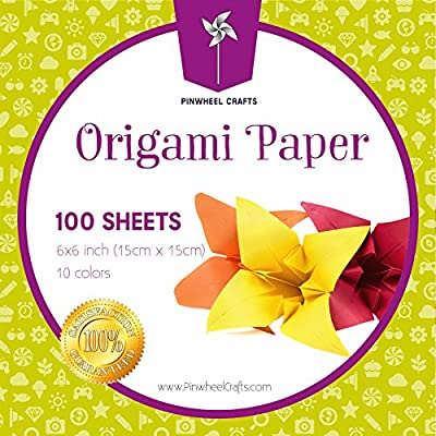 Origami Paper by Pinwheel Crafts 6-inch by 6-inch, 100 sheets
