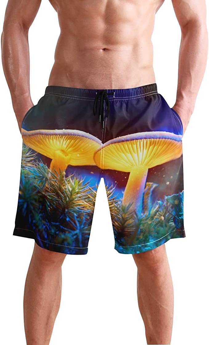 Tyugvvo Boxing Sports Funny Swim Trunks Summer Beach Shorts Pockets Boardshorts for Men with Mesh Lining