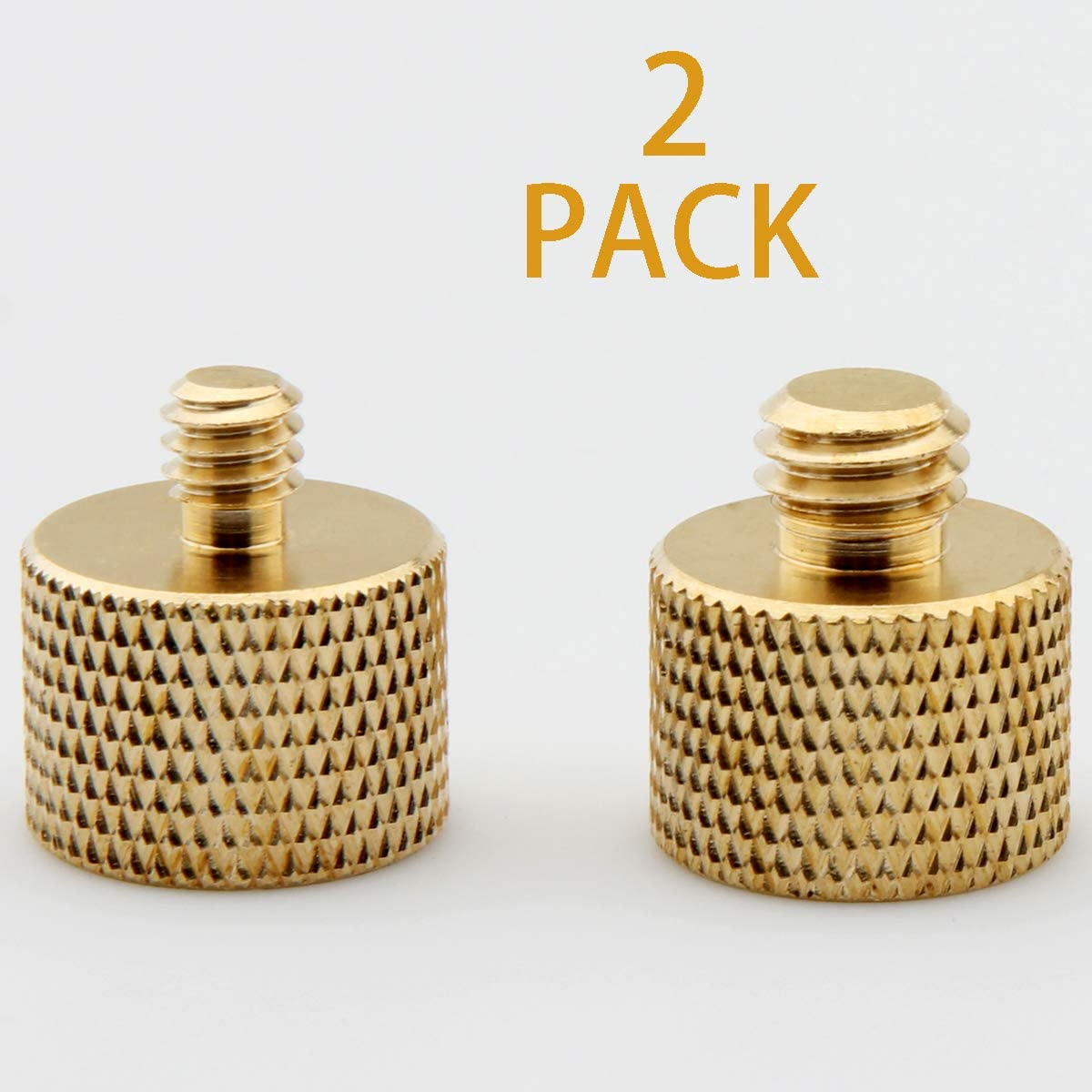 "XINJUE 2 Pieces, Microphone Holder Camera Tripod Adapter Adapter, Combination Packaging, 1 Piece (1/4"" Male to 5/8"" Female) 1 Piece, (3/8"" Male to 5/8"" Female)(Brass)"