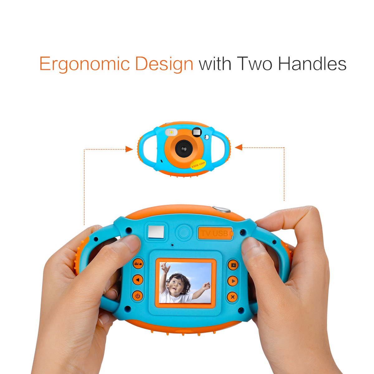 Kids Camera Childrens Camera with 1.77 HD Color Screen 5Mp Rechargeable Digital Mini Video Cameras for Childrens by SEZHE (Image #5)