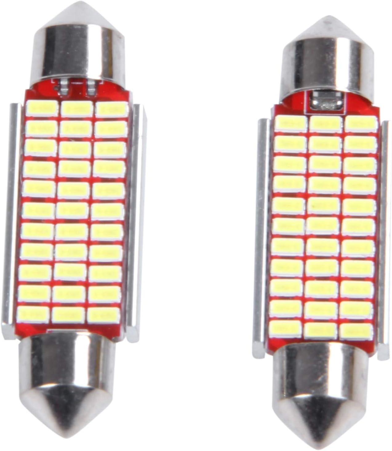 Binchil 2Pcs C5W C10W 31Mm 3014 18Smd Ampoule Interieur De Voiture Canbus LED De Feston Lampe De Plaque DImmatriculation 12V