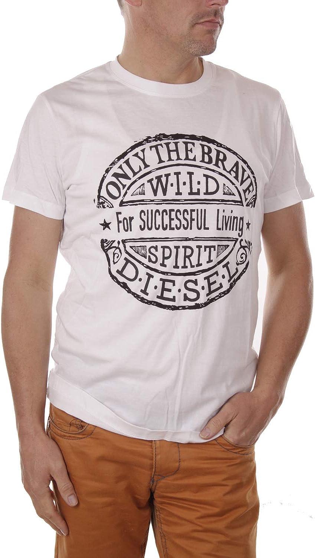 Diesel Hombre SNT-Stamp Camiseta: Amazon.es: Ropa y accesorios