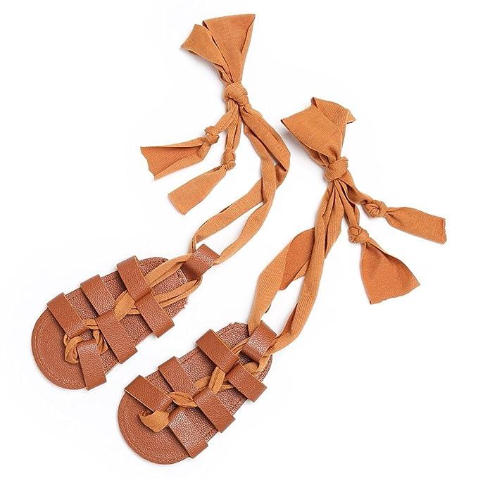 f90eb05ef SamMoSon Ropa para bebés niño Primeros Zapatos para niñas Bebé Recién Nacido  Vendaje Suela Cruzada Zapatos Niña Niño Cuna Prewalker BW   12  Amazon.es   Ropa ...