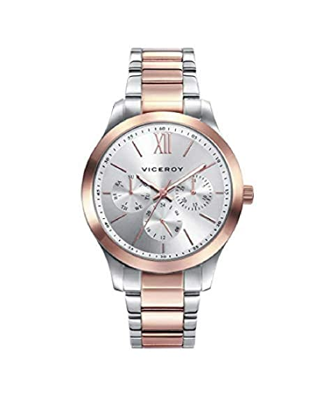 Viceroy 401070-03 - Reloj Analógico para Mujer, Acero Bicolor: Amazon.es: Relojes