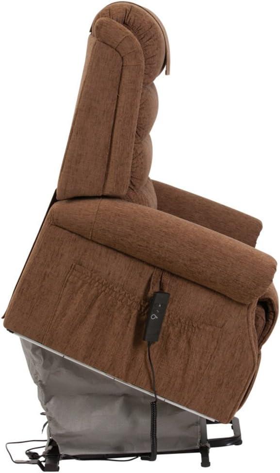Drive DeVilbiss Serena Deluxe - Silla reclinable reclinable con Respaldo de Cascada (elevable e inclinable) - Sillón ortopédico - con Mando a Distancia