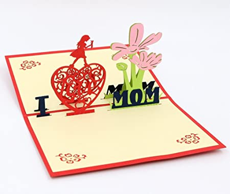 Amazon isharecards handmade 3d pop up mothers day greeting amazon isharecards handmade 3d pop up mothers day greeting cards thank you cards for mom i love mom office products m4hsunfo