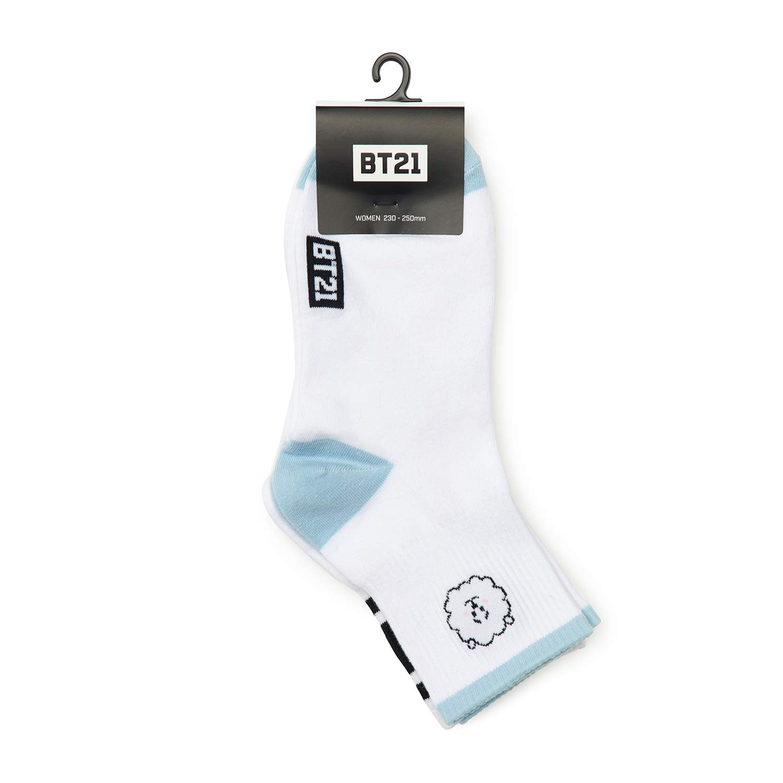 BT21 Official BTS Merchandise by Line Friends - RJ 2-Packs Cute Cotton  Socks for Women (Designed by Bangtan Boys)  Amazon.com.au  Fashion aa755cf540c2