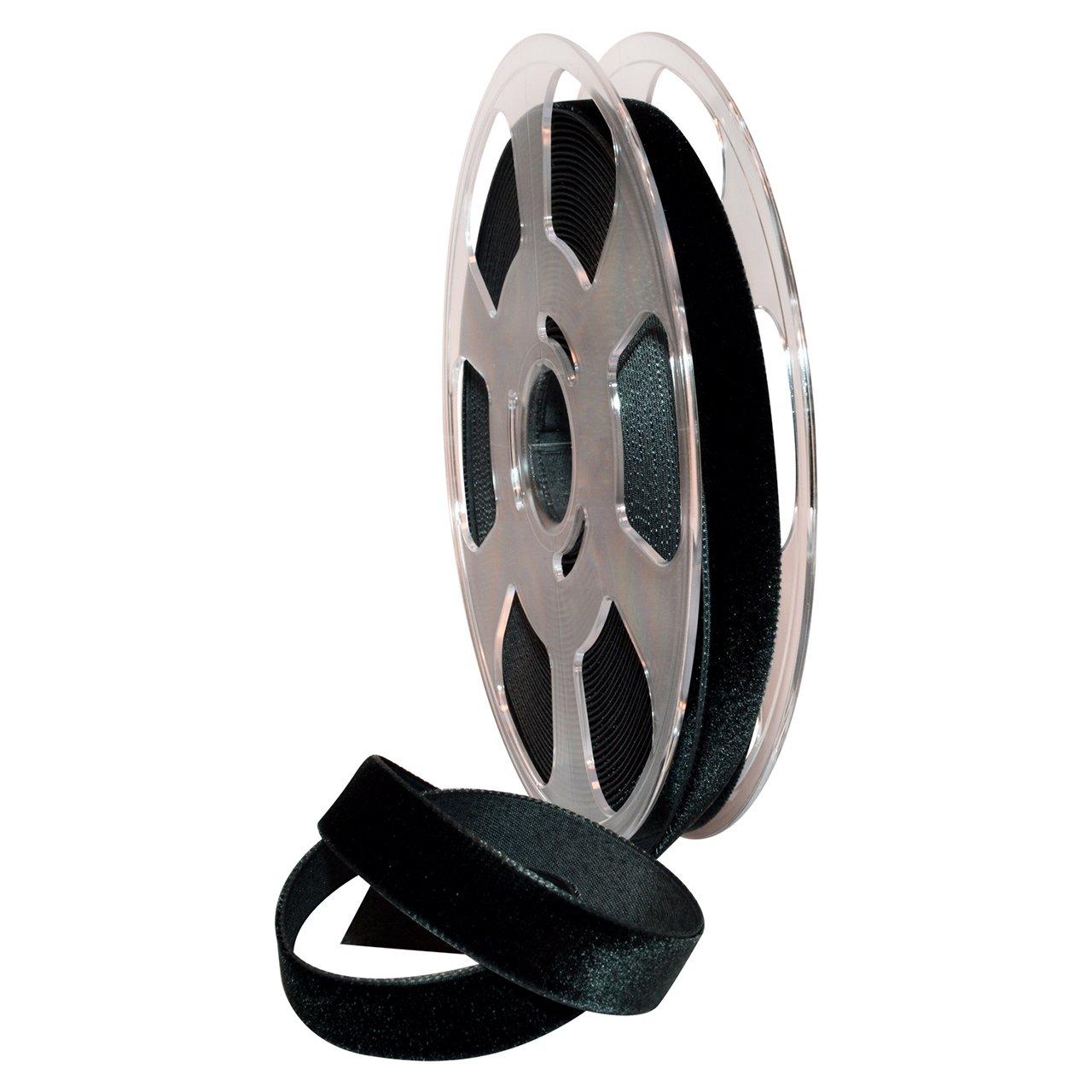 Morex Ribbon 01215/10-725 ナイロンバロア スイスベルベット ナイロンリボン 5/8インチ x 11ヤード ブラック   B00U27LSES