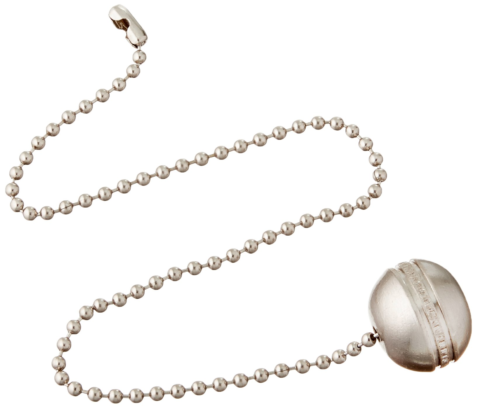 Westinghouse 7710400 Lighting Beaded Ball Pull Chain, Brushed Nickel