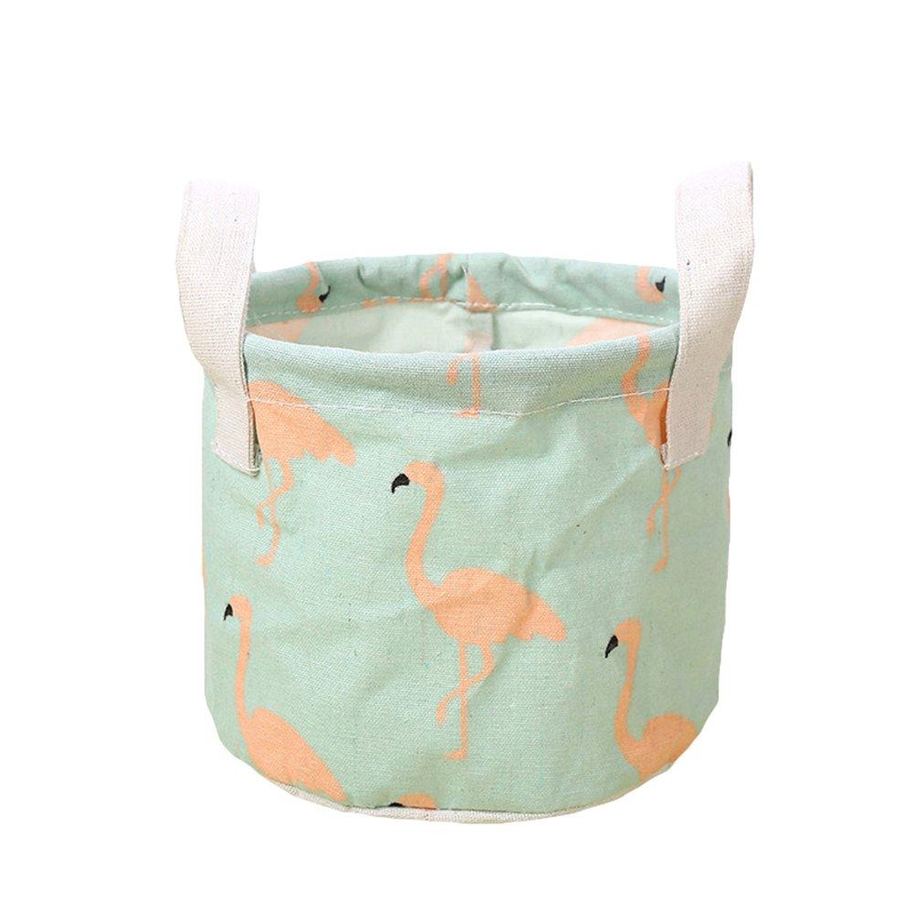 Boîte de rangement de tissus Bluelans®, paniers de rangement rond, mini panier de rangement en tissu -Bacs de rangement pour chambre d'enfant - Idéal pour le rangement de jouets ou pour le bureau