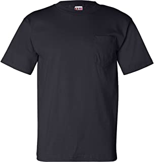 product image for Bayside USA-Made Short Sleeve T-Shirt with a Pocket. 7100 Navy