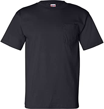 56edf7b602ffb Bayside USA-Made Short Sleeve T-Shirt with a Pocket. 7100 Navy
