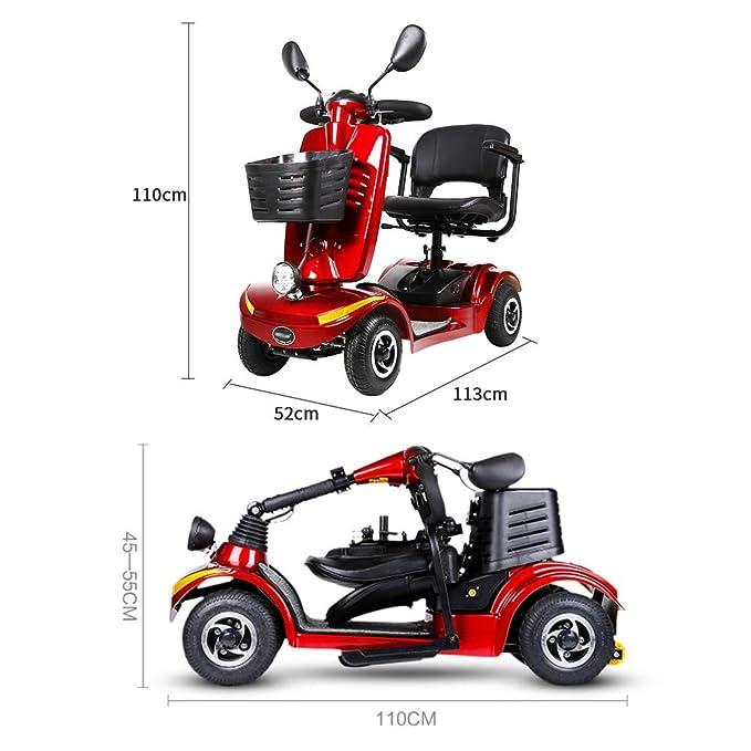 Amazon.com: Silla de ruedas eléctrica de 4 ruedas con cestas ...